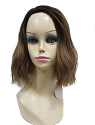 Newest Fashion Short tri-color Bob Side Part No Bangs Full Synthetic Wig for Lady Women