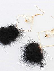 Boucles d'oreille goutte Boucles d'oreille gitane Perle imitéeBasique Original Logo Pendant Perle Géométrique Amitié Turc Mode Gothique