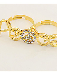 Han Edition Gold Ring Double Loop Set Auger Love Ring