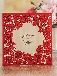 Personalizado Embrulhado e de Bolso Convites de casamentoEnvelope Etiqueta do envelope Fan programa O menu do casamento Cartões de