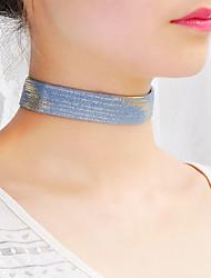 Жен. Ожерелья-бархатки Воротничок шарф ожерелья Бижутерия Одинарная цепочка ТканьБазовый дизайн Простой стиль Мода По заказу покупателя