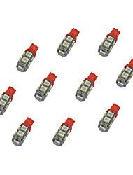 10шт t10 9 * 5050 smd светодиодная лампа автомобиля свет bule light dc12v