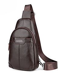 Men Bags All Seasons Cowhide Sling Shoulder Bag with for Wedding Event/Party Casual Formal Office & Career Black Brown