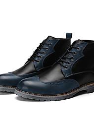 Мужские кроссовки комфорт синтетическая ткань офис&Карьера синий чёрный