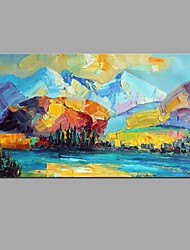 Peint à la main Paysage Horizontale,Moderne Style européen Un Panneau Toile Peinture à l'huile Hang-peint For Décoration d'intérieur