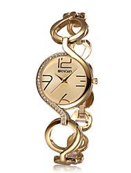 WeiQin Mulheres Relógio de Moda Chinês Quartzo Lega Banda Dourada Ouro Rose
