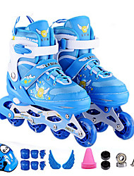 Kid's Inline Skates Cushioning Breathable Wearproof Comfortable Blue/Red/Blushing Pink/Yellow