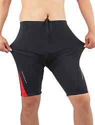 Shorts de Ciclismo Hombres Bicicleta Transpirable Cómodo Terileno Táctel Retazos Ciclismo/Bicicleta Primavera Verano Otoño Invierno Negro