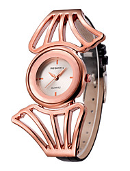 REBIRTH® Women's Fashion Watch Japanese Quartz / PU Band Casual Black White/Silver Rose Gold Silver Gold