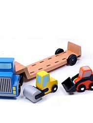 Playsets veículos Modelo e Blocos de Construção Brinquedos Madeira