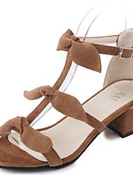 Women's Sandals Summer Comfort PU Outdoor Low Heel Yellow Black
