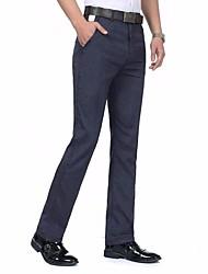 Men's High Rise Micro-elastic Chinos Pants,Boho Loose Solid