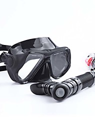 Tauchmasken Schnorchel Wasserfest Schützend Tauchen und Schnorcheln Neopren Glasfaser Schwarz