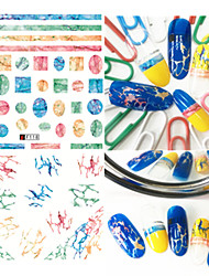 1pcs Fashion Colorful Design Nail Art 3D Stickers Lovely Irregular Magical Streak Design For Nail DIY Beauty F118