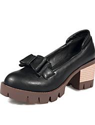 Damen-High Heels-Lässig-Mikrofaser-Blockabsatz-Komfort-