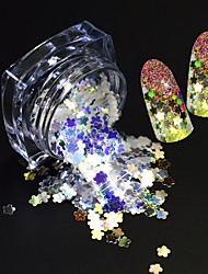 1 Bottle Fashion Nail Art Glitter Paillette Shining Thin Slice Beautiful Flower Design Magical Dazzling Slice Decoration SZ01