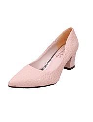 Feminino-Saltos-Sapatos clube Sapatos formais-Salto Grosso--Courino-Ar-Livre Escritório & Trabalho Casual