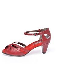 Feminino-Sandálias-Conforto-Salto Baixo--Outras Peles de Animais-Casual