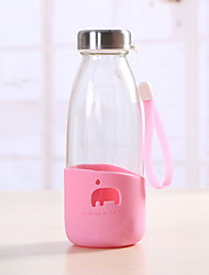 401-500ml Summer Portable Glass Water Bottle