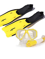 Diving Masks Protective Diving / Snorkeling Neoprene Fibre Glass Yellow
