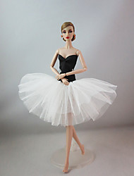 Party/Evening Dresses For Barbie Doll Black & White Dress For Girl's Doll Toy