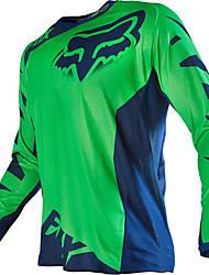 T-shirt hors-route de moto de renard à manches longues à manches longues et à manches longues