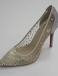 Mujer-Tacón Stiletto-Zapatos del club-Zapatos de boda-Boda Vestido Fiesta y Noche-Purpurina Tul-