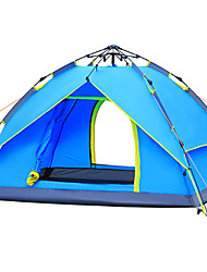 3-4 persons Tent Double Automatic Tent One Room Camping Tent 2000-3000 mm Fiberglass Oxford Waterproof Portable-Hiking Camping