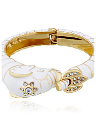 Femme Bracelets Rigides Mode Hip-Hop Alliage Forme Ronde Bijoux Pour Mariage Soirée 1pc