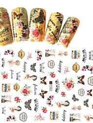1pcs Fashion Beautiful Design Nail Art 3D Stickers Beautiful Flower Sweet Butterfly Nail DIY Beauty Creative Decoration F182