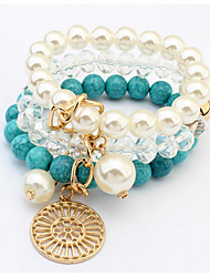 European And American Fashion Elegant Atmosphere Beaded Multilayer Bracelet