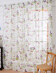 One Panel Curtain Country Butterfly Sheer Curtains Shades Home Decoration For Window W145cm*L150cm