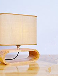 Solid Wood Bedside Idyllic Lamp Sitting Room Study Decorates Small Desk Lamp