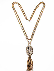 Women's Pendant Necklaces Geometric Chrome Unique Design Tassels Euramerican Gold Jewelry For Casual Christmas Gifts 1pc