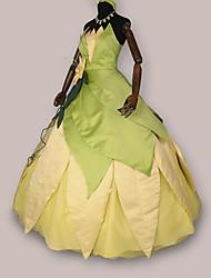 Costumes de Cosplay Costume de Soirée Princesse Conte de Fée Fête / Célébration Déguisement d'Halloween Jaune Rétro Robe CasqueHalloween