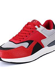 Men's Athletic Shoes Spring Summer Fall Winter Comfort Spandex Fabric Tulle Outdoor Athletic Casual Lace-up Red Gray Dark Blue Running
