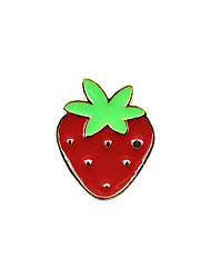 Fashion Trendy Cute  Enamel  Strawberry  Metal Brooch