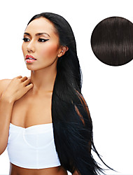 9Pcs/Set Deluxe 120g #1b Natural Black Off Black Clip In Hair Extensions 16Inch 20Inch 100% Human Hair