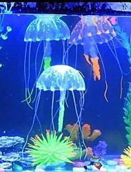 6 colors Glowing Effect Fish Tank Decor Aquarium Artificial Silicone Vivid Jellyfish Random Color
