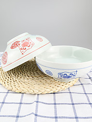 Vintage High Temperature Porcelain Soup Serving Bowl Dinnerware with High Quality
