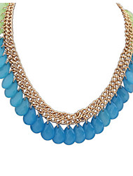 Euramerican Fashion Elegant Luxury Droplets Female Daily Necklace Movie Jewelry