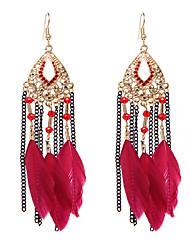 lureme®  Drop Earrings Jewelry Cute Style Euramerican Handmade Vintage Adjustable Luxury Multi-ways Wear Feather Wings / Feather Jewelry