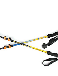 3 Nordic Walking Poles 135cm (53 Inches) Damping Foldable Light Weight Adjustable Fit Aluminum Alloy 7075Camping & Hiking Snowshoeing