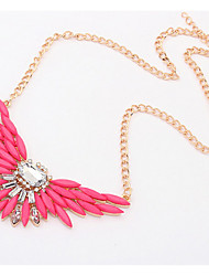 Candy Color Euramerican Wings Statement Strands Collar Choker Rhinestone Necklaces