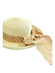 Bow Summer Straw Hat Cap Beautiful Flower Girl&lady Round Wide Brim Hawaii Folding Soft Sun Hat Casual Foldable Brimmed Beach Hats For Women