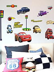Cartoon Cars 2 Lightning Mcqueen Wall Stickers DIY Children's Room Wall Stickers