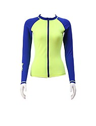 Women's Wetsuit Top Breathable Quick Dry Anatomic Design Elastane Terylene Diving Suit Long Sleeve Tops-Diving Spring Summer Fashion
