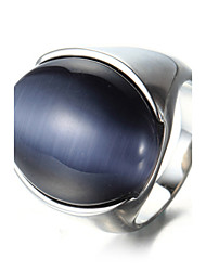 Ring Statement Rings Acrylic Euramerican Fashion Casual Daily Punk Hip-Hop Personalized Rock Titanium Steel Oval Geometric jewelry For Men