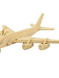 Puzzles Puzzles 3D Blocs de Construction Jouets DIY  Avion Bois Maquette & Jeu de Construction