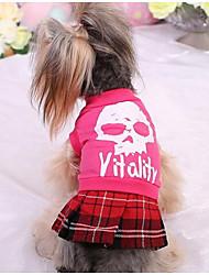 Cães Camiseta Roupas para Cães Fofo Da Moda Princesa Fúcsia